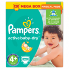 Pampers Active Baby-Dry rozmiar 4+ Maxi+ waga 9kg-16kg