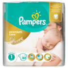 Pampers Premium Care Pieluchy 1 Newborn, waga 2-5 kg